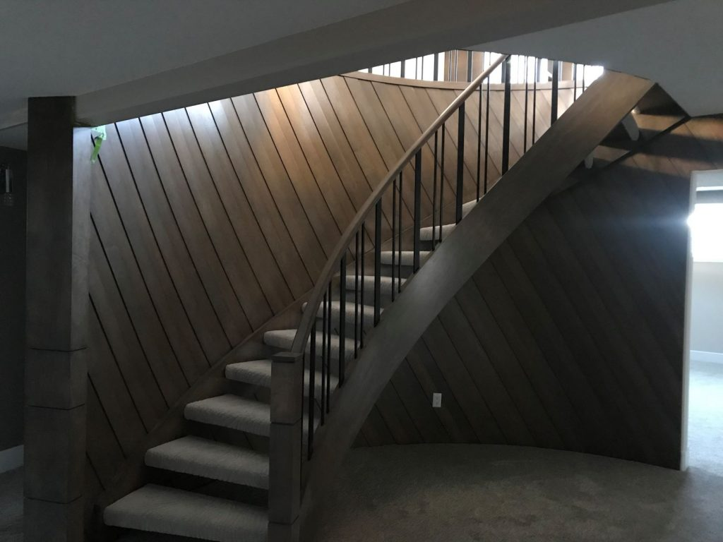 brown maple stairs