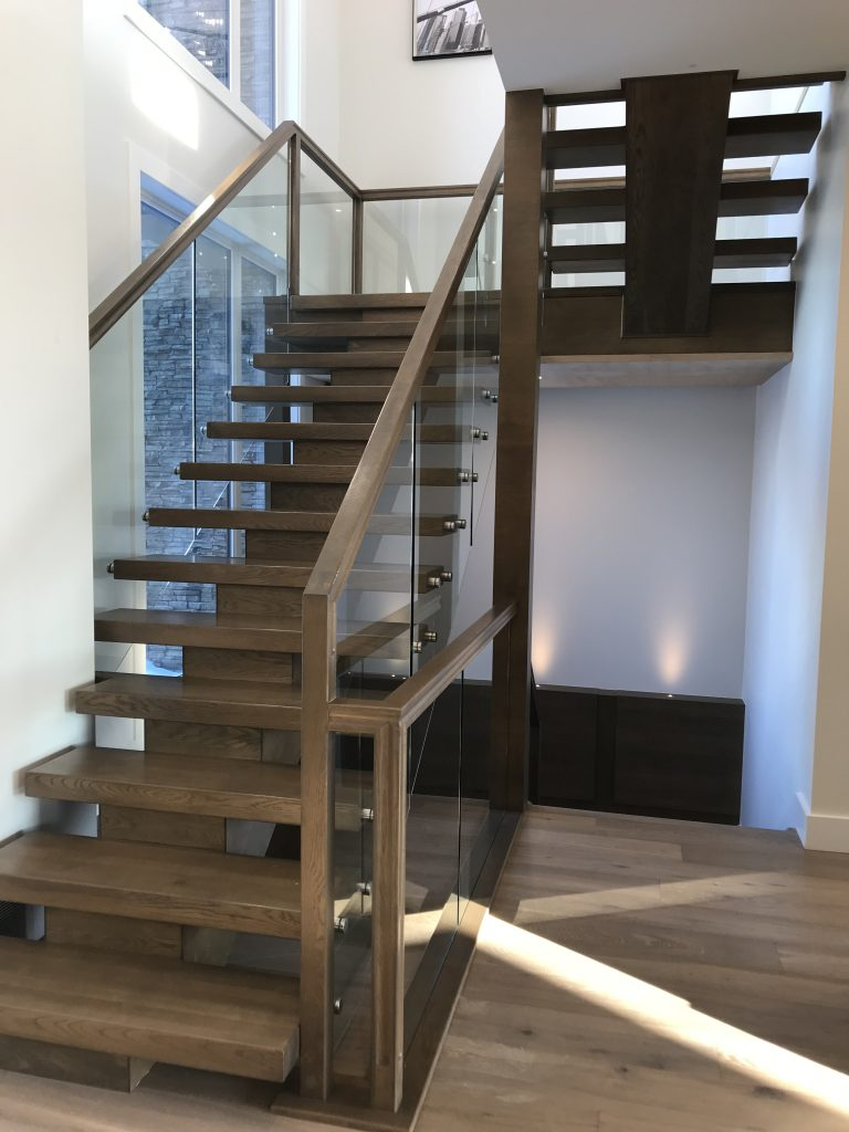 wood maple stairs